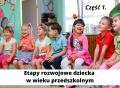 Etapy rozwojowe dziecka wwieku przedszkolnym –  część 1.